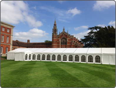 Marquee hire for weddings, corporate events and parties