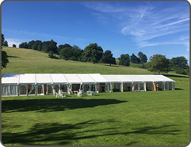 Supplying a Marquee for Bentlys Drivers Club